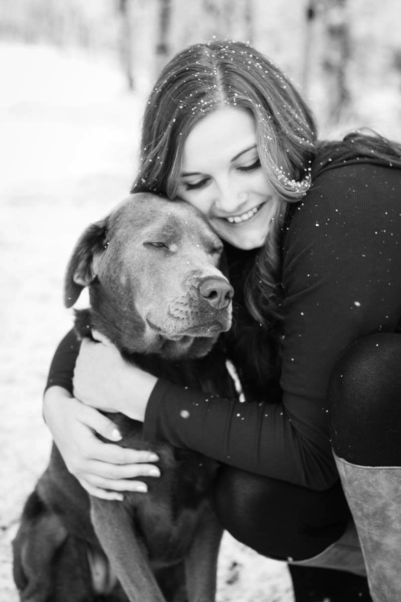 Aubrie Boline and her dog
